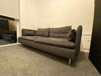 Charcoal/black 3 Seater Sofa