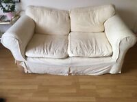 BEAUTIFUL FREE CREAM SOFA ~ charming, classy second hand 2 person couch