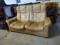 Ekornes Stressless Recliner Sofa Settee wear on seats Deliv Poss