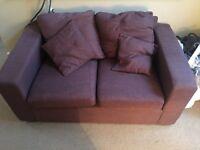 Ikea aubergine 2 seat sofa. Excellent condition.