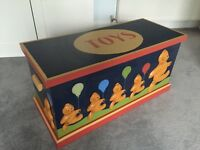 Toy box- wooden toy chest