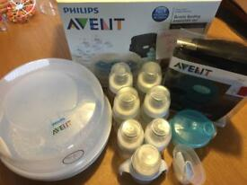 Philips Avent bottle sterilising set