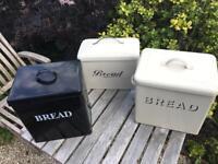 3 x bread bins for sale