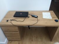 Teak Desk and Gaming Chair