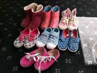Size 8 infant Girls Shoe Bundle