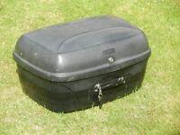 Black Rickman Topbox for motorbike