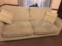3 Seater Fabric Sofa - Oak Furniture Land