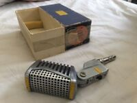 Vintage 1960s Calrad DM-16 H.L dynamic microphone with original box little use Crooner Style