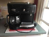 Filter coffee and milk frother machine