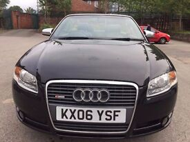 06 plate - Audi A4 S Line - TDI 140 - black - Convertible - Remapped - new flywheel clutch