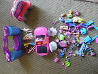 Polly Pocket characters plus accessories