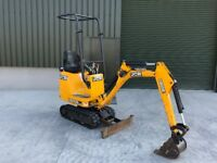 JCB 8008 CTS, 2015, 608 Hours, 0.8 T Micro Digger Expanding Tracks Mini Digger Plus VAT