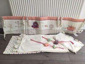 Lolliepop lane curtain & cot bumper set