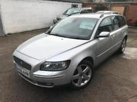 2006 Volvo V 50 diesel Sportswagon 2.0D SE 6 speed manual 5 door Full heated electric black leather