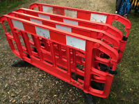Safety Barriers (4 for sale) - JSP 2 Metre Titan 2 Interlockable Safety Barriers
