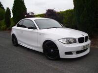 2008 BMW 120D M-SPORT COUPE ~ AUTO ~ OVER 6K OF EXTRAS ~ ALPINE WHITE 320d 330d 530d 535d c220 c250