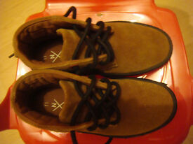 NEXT BROWN SUEDE BOOTS -SIZE 11-GREAT CONDITION