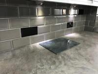 Ceramic tiles dove grey