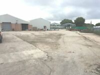Large storage / industrial yard to let in bury 1.5 acres in total , 15000 sq ft of undercover space