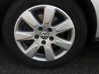 VW Passat alloy wheels with Dunlop tyres 215/55/16
