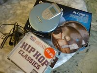 portable panasonic SLCT580 compact cd player with nine english cds & headphones,perfect working cond