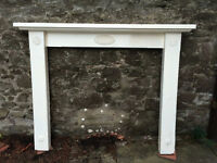 Fire surround (softwood) painted white
