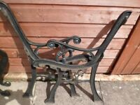 Large selection Used Cast Iron Bench Chiar Table Ends Parasol Stands