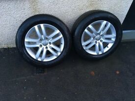 Audi Q7 Alloys And tyres 18""
