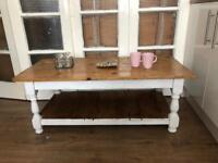 Chunky coffee table Free Delivery Ldn shabby chic rustic farmhouse