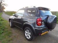 TOYOTA RAV4 VVTI,2 LITRE PETROL,MOT AUGUST 2017,2 OWNERS,FULL SERVICE HISTORY,CD PLAYER