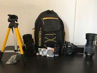 NIKON D5100 + 2 Lenses (18-55mm & 55-200mmVR), Filters, Tripod, Bag, Memory card