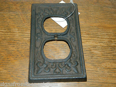 French Decorative Cast Iron Rustic Finished Electric House Outlet Plate Cover  ()