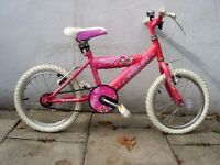 Kids Bike by Raleigh, Pink, 16 inch Wheels Great for Kids 5+ Years, JUST SERVICED / CHEAP PRICE!!!!!
