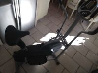 Cross trainer exercise bike