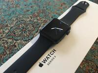 Apple Watch Series 3 (GPS), Space Gray Aluminium :: 42mm Sports Band, Black