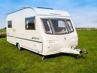 Avondale Argente 460 - 2 Berth 2003 Caravan. Brand New Tyres & Serviced. Status 550 figital aerial