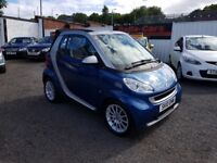 Smart Fortwo 1.0 MHD Passion Cabriolet 2dr/ £20 ROAD TAX/ LOW MILEAGE/ 2010 (10 reg), Convertible