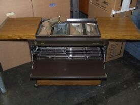 EKCO Hostess Royal, heated trolley for parties & catering. Includes booklet on how to use.