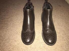 Kangol leather ankle boots