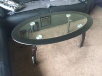 Glass Coffee table and Bathroom Unit available for sale