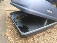 Grey Halfords roof box 360 litre