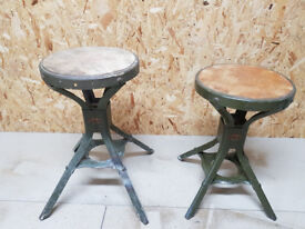2 VINTAGE EVERTAUT STOOLS - WILLING TO SELL SEPARATELY