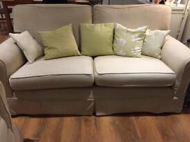 Sofa - 2x Large Cream Sofas