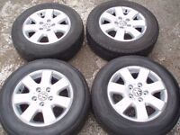 """Genuine set alloy wheels VW T5 16"""" 5x120 with tyres 6-8mm 215/65/16C DELIVERY available"""