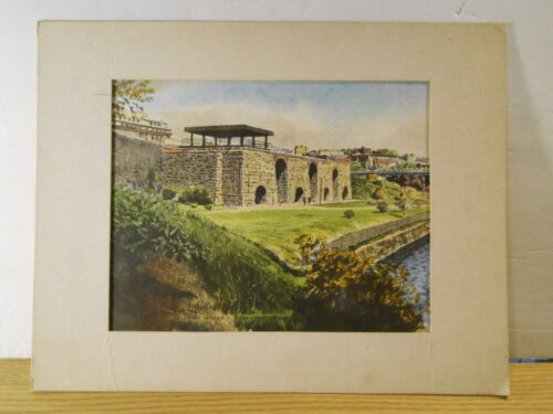 College Grays Watercolor Group Print IRON WORKS SCRANTON PA Stone Blast Furnaces