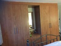 Large fitted wardrobes in excellent condition