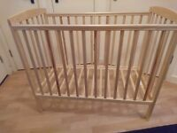 Space saver cot / compact cot in pine