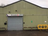 Commercial unit workspace with roller shutter entrance with parking, Leyland South Ribble