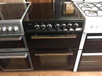Black 60cm electric cooker