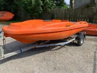 Used, Plastic Rigiflex boat tender for sale